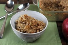 Baked Apple Walnut Steel Cut Oats