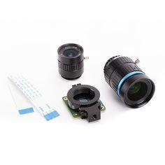 Die Raspberry Pi High Quality Kamera ist das neueste Kamerazubehör von Raspberry Pi. Es bietet eine höhere Auflösung (12 Megapixel im Vergleich zu 8 Megapixel) und Empfindlichkeit (ca. 50% größere Fläche pro Pixel für verbesserte Leistung bei schlechten Lichtverhältnissen) als das vorhandene Kameramodul v2 und wurde für die Verwendung mit Wechselobjektiven in C- und CS-Fassung entwickelt Formfaktoren. Andere Linsenformfaktoren können von Drittanbietern berücksichtigt werden Objektiv Adapter. Raspberry Pi Computer, Raspberry Pi 1, Binoculars, Smart Watch, Software, High, Wide Angle Lens, Focal Length, Tripod