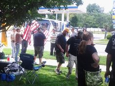 Americans in Lansing, MI, protesting illegal immigration