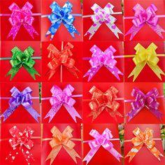 50 개/몫 18 미리메터 선물 리본 생일/웨딩/홈 축제 파티 장식 포장 풀 활 리본 꽃 액세서리 용품