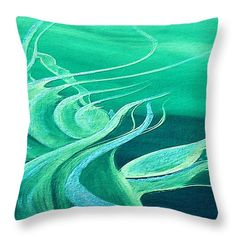 Emerald Expression Throw Pillow for Sale by Faye Anastasopoulou