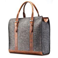 Leather + felt carry all