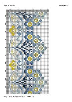 Cross Stitch Borders, Cross Stitch Flowers, Cross Stitch Charts, Cross Stitch Designs, Cross Stitching, Cross Stitch Embroidery, Hand Embroidery, Cross Stitch Patterns, Embroidery Designs