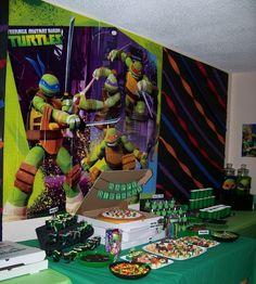 Teenage Mutant Ninja Turtles Birthday Party Ideas | Photo 12 of 39 | Catch My Party