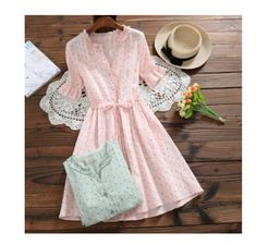 Cheap Dresses, Buy Directly from China Suppliers:Mori Girl Sweet Summer Women Floral Dress Ruffled Collar Print String Female Vestidos Jacquard Cotton Pink Green Cute Dress Cheap Dresses, Cute Dresses, Girls Dresses, Summer Dresses, Party Dresses, Homecoming Dresses, Summer Outfits, Casual Outfits, Vestidos Color Rosa