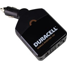 Battery-Biz Duracell 150W Mobile Inverter - Converts Power From Car, Recharges AC and USB Devices, 3-prong AC Outlets -