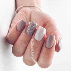 59 natural summer nails design for short square nails 33 Cute Acrylic Nails, Cute Nails, Pretty Nails, Hair And Nails, My Nails, Short Square Nails, Square Gel Nails, Dream Nails, Silver Nails