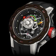 Limited edition of 30 pieces in carbon nanotubes and titanium RICHARD MILLE RM 36-01 Competition G-Sensor Sebastien Loeb (See more at En/Fr: http://watchmobile7.com/articles/richard-mille-rm-36-01-com