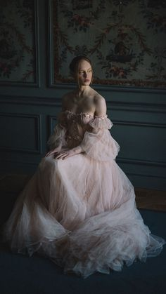 Blush Tulle Wedding Dress and Red Silk Alternative Bridal Gown - - blush tulle wedding dress with embroidered lace detail and a dramatic crimson silk ballgown for an alternative bridal look. Ball Dresses, Ball Gowns, Royal Dresses, Tulle Wedding, Wedding Dresses, Wedding Blush, Blush Bridal, Weird Wedding Dress, Event Dresses