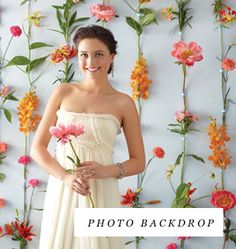 Photo backdrop. Hey Hope, these ideas are pretty cool. You could do in paper. Go to the website.