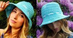 Crochet Adult Hat, Crochet Summer Hats, Crochet Beanie Pattern, Crochet Patterns, Crochet Girls, Hat Patterns, Crochet Cord, Crochet Scarves, Diy Crochet