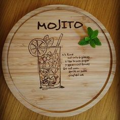 Mojito recipe burnt on a cutting board 🍸🍹 #woodburning #pyrography #cuttingboard #recipe #mojito #drink #summerdrinks #kitchentools #kitchensupplies #kitchendecor #diy #doityourself #handmade #crafting #crafter #occasionalcrafter #EviG_Crafted #apartmenttherapy #thekitchn