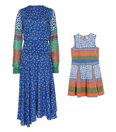 Preen Line Sylvia Printed Voile and Georgette Dress and Mini Thalia Dress
