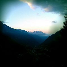 Alp road, Switzerland.