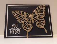 South Shore Stamping: Butterfly Thinlits and Best Day Ever - NAC122