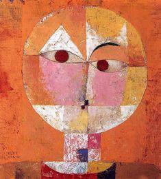 パウル・クレー:セネシオ(1922年) 油彩・カンヴァス(ガーゼ)  40.5 x 38cm バーゼル美術館/スイス