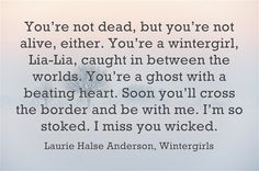 Image result for wintergirl quotes