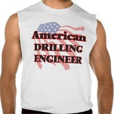 American Drilling Engineer Sleeveless Shirt Tank Tops