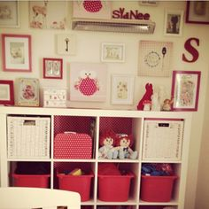 Red and pink nursery @lolligoth on instagram  deer, polka dots, so many things!!