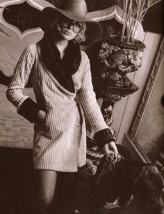 Jo Dingemans photographed in Biba with Hannibal by Barbara Hulanicki.