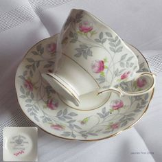 Vintage Royal Albert CONWAY Bone China Tea Cup and Saucer - Made in England 1940