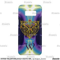 HYPER VALENTINE,GOLD CELTIC KNOT HEART Blue Purple Case-Mate Samsung Galaxy S8 Case #3d #celticknots #love #animals