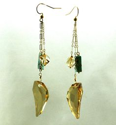 14k Gold Filled Earrings with Turquoise Gemstones by RawLuxGems, $38.00