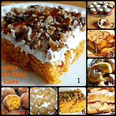 8 of my FAVORITE Pumpkin Desserts!!! My mouth is drooling just thinking about them!