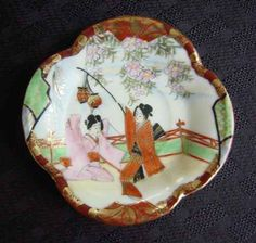 Old Japan Geisha Demitasse Cup and Saucer - Front of Saucer