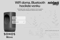 Sonos Move - Odolný inteligentný reproduktor napájaný z batérie pre vonkajšie a vnútorné počúvanie. Sonos, Wi Fi, Fitbit, Bluetooth, Ipad