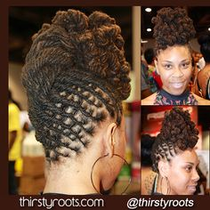 Twisted Bun Dreadlocks Hairstyle | thirstyroots.com: Black Hairstyles and Hair Care