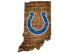 Indianapolis Colts Wood Sign - State Wall Art