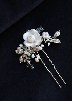 BESPOKE for Patricia_Maybelle hair pin with pearl branches 1