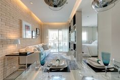 Mini loft mini homes lofts pinterest apartamentos for Amoblar departamentos pequenos