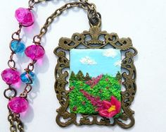 Painting necklace