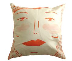 Two sided face pillow by ElizabethGraeber on Etsy