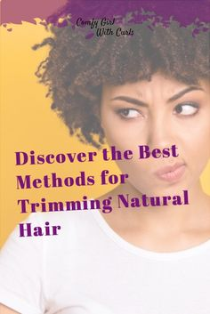 Discover the BEST methods for trimming Natural Hair. The #1 way to obtain long and healthy type 4 Hair is to keep your ends trimmed to prevent split ends and further damage. #NaturalHair #NaturalHairCare #NaturalHairTips