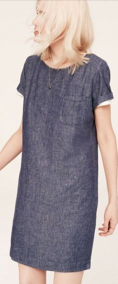 simple and perfect chambray dress