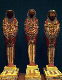 Ptolemaic mummiform figures representing the sons of Horus