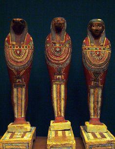 Ptolemaic mummiform figures representing the sons of Horus