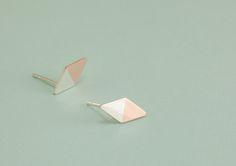 www.eevalovisa.com / sterling silver + copper / stud earrings Lovisa Jewellery, Jewelry Accessories, Jewelry Design, Contemporary Jewellery, Precious Metals, Copper, White Gold, Stud Earrings, Sterling Silver