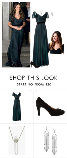"""""""Kate Middleton Style Steal"""" by janna-raub ❤ liked on Polyvore featuring GALA, Jenny Packham, Clarks, Zoe & Morgan and Topshop"""