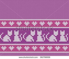 Find Knitted Seamless Border Cats stock images in HD and millions of other royalty-free stock photos, illustrations and vectors in the Shutterstock collection. Knitting Stiches, Knitting Hats, Baby Models, C2c, Royalty Free Stock Photos, Cross Stitch, Tapestry, Chart, Embroidery