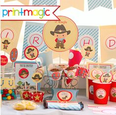 Instant Download Cowboy Birthday Printable Party Kit by printmagic, $14.95
