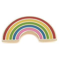 Georgia Perry Rainbow Pin ($15) ❤ liked on Polyvore featuring jewelry, brooches, multi, pin brooch, multicolor jewelry, butterfly jewelry, pin jewelry and tri color jewelry