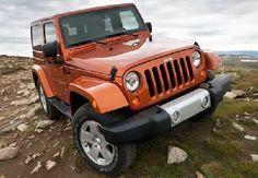 Orange Jeep Wrangler Unlimited