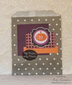 Halloween Treat Bag using Scaredy Cat papers and coordinating stamp sets! #CTMH #partydecor #stamping