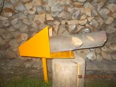 Handmade Tools Log Saw Horse Holder Drill&Electric Grape Crusher Log Wood Splitter Cone Log Holder for Chainsaw Cutting Log Saw, Firewood Logs, Log Splitter, Log Holder, Wood Lathe, Chainsaw, Wood And Metal, Home Projects, Horses