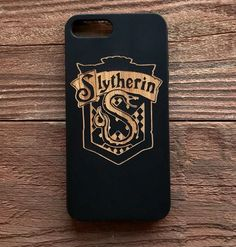 Harry Potter Wood Case iPhone 6 7 Slytherin House Crest Laser