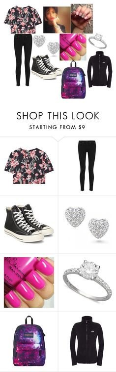 """""""Maybe I should go to school?......"""" by dellese ❤ liked on Polyvore featuring beauty, Jonathan Saunders, rag & bone, Converse, Bling Jewelry, Arabella, JanSport and The North Face"""